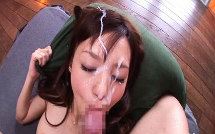 Cum on her face river