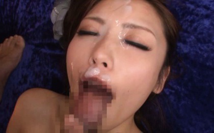 Ayu sakurai. Ayu Sakurai Asian with nasty tits gets ejaculate on nose after drilling