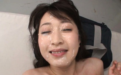 Arisa misato. Arisa Misato Asian with round cans has face under