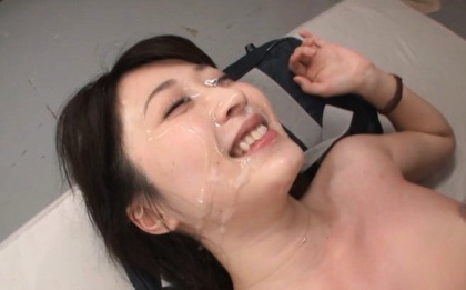 Arisa misato. Arisa Misato Asian busty has face in sperm rain