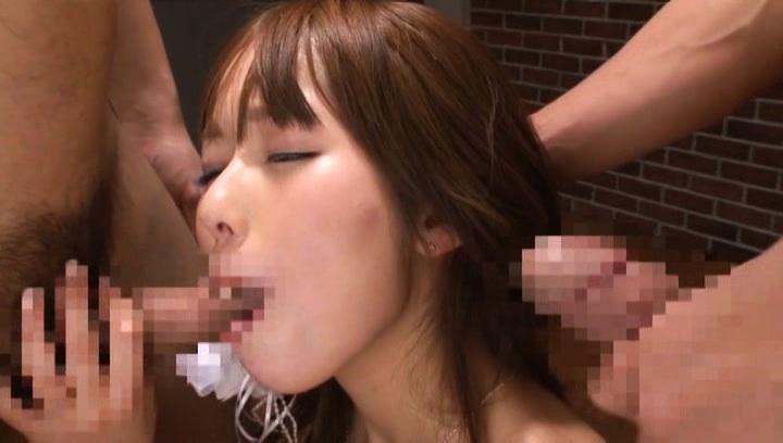 Yuu asakura. Yuu Asakura Asian takes boner after boner in mouth in gangbang