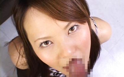 Hirari Hanakawa has a mouthful of cum after oral sex